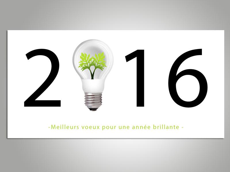 Carte de vœux nouvelle année