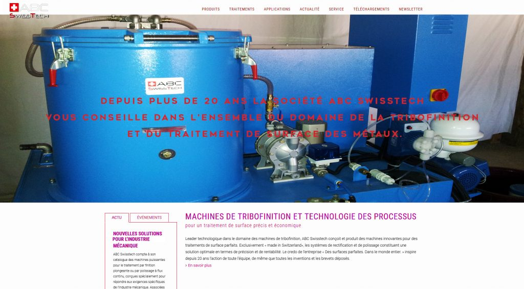 Site internet ABC SwissTech