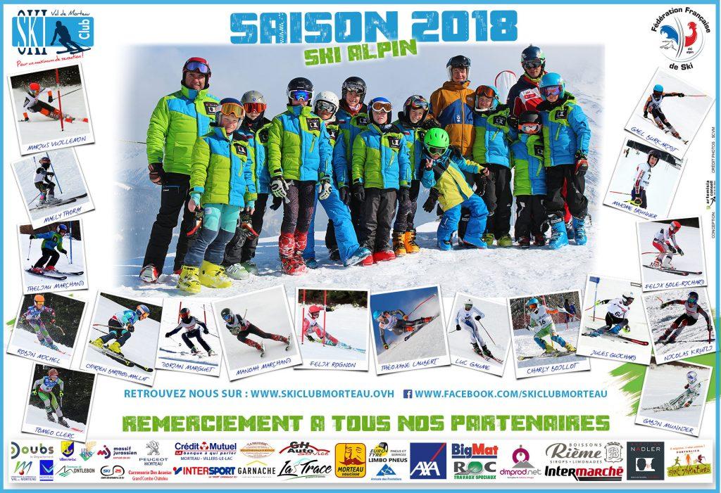 Poster saison Ski Club Val de Morteau 2019